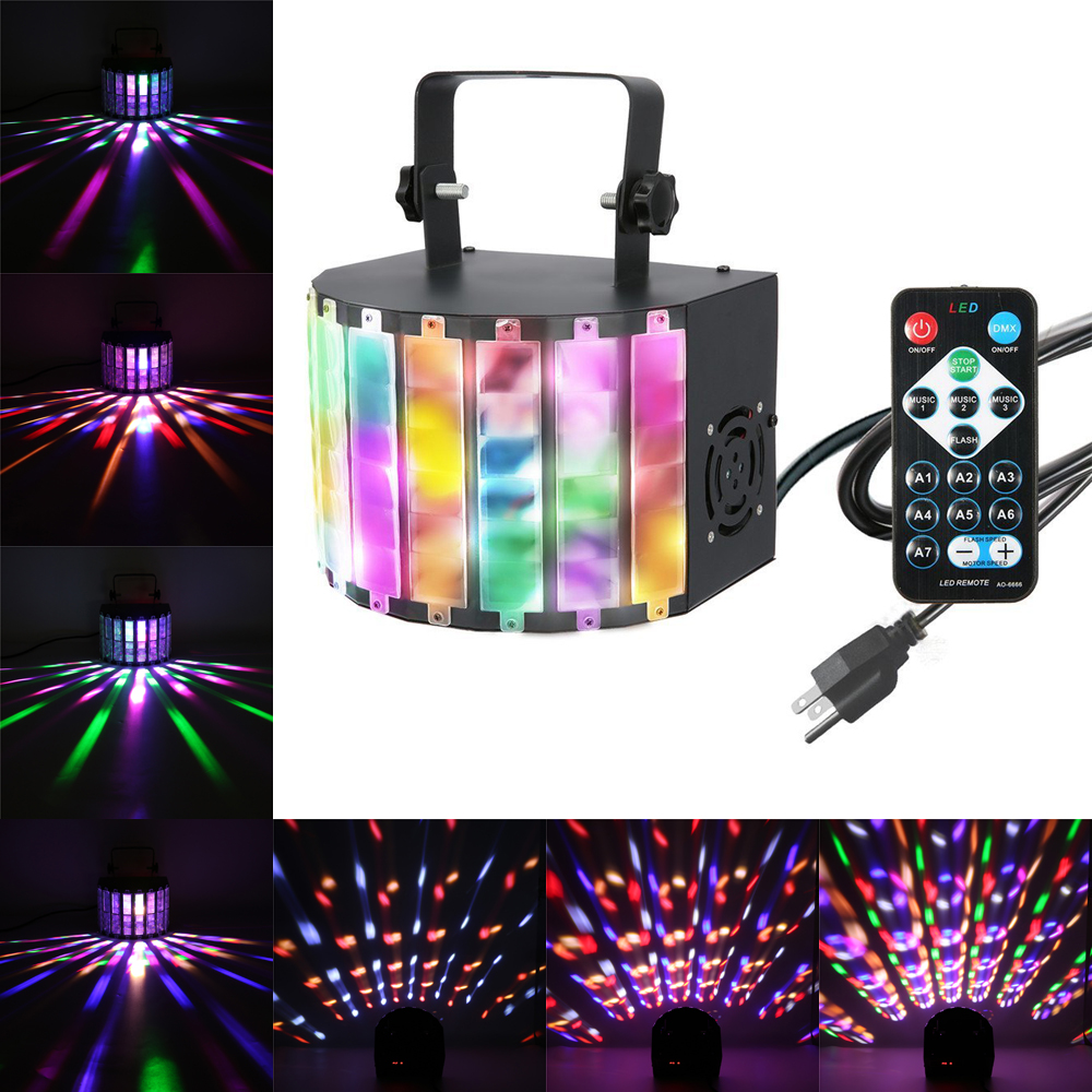 LED Party Lights - SOLMORE Sound Activated Color Changing Stage Disco Lights with Remote