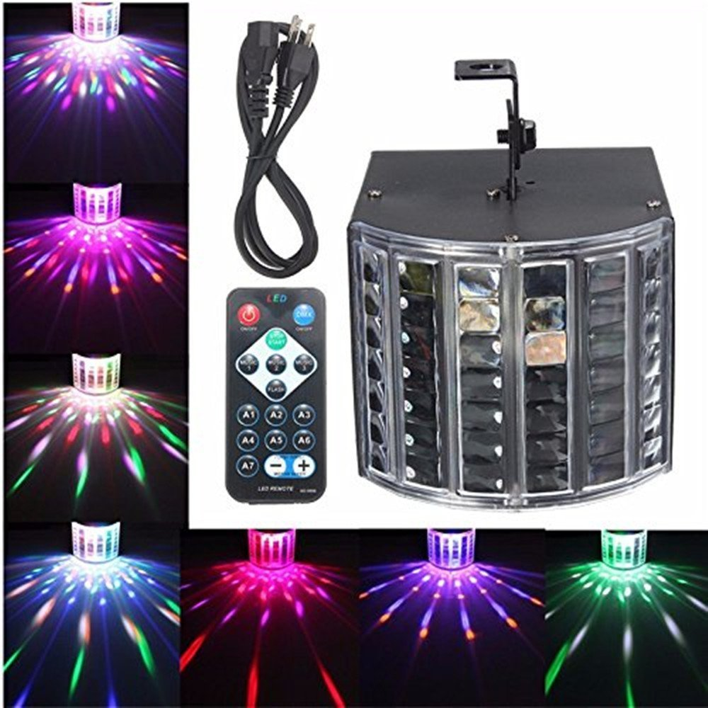 SOLMORE LED Stage Lights Sound Actived Crystal Magic Effect with Remote